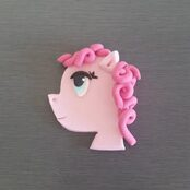 My Little Pony Cupcake topper - Pinkie Pie