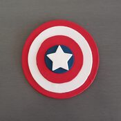 captain america cake decoration