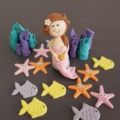 Mermaid cake decorations
